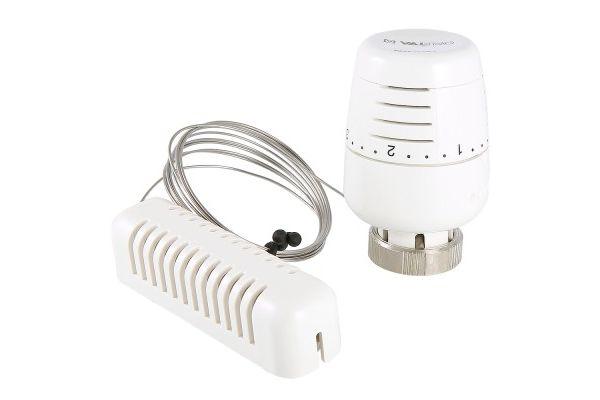 Термостатическая головка с выносным настенным датчиком