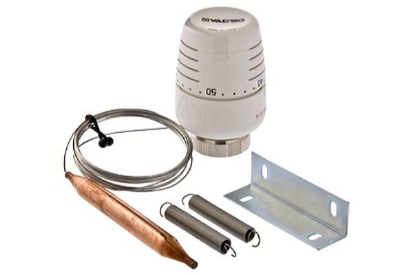 Термостатическая головка с выносным накладным датчиком