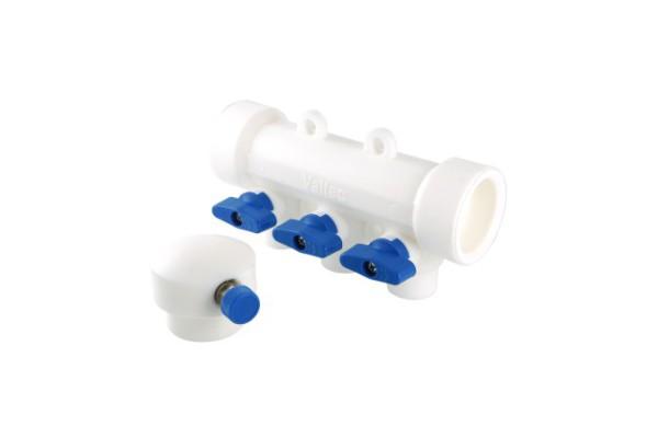 Коллектор полипропиленовый с отсечными кранами